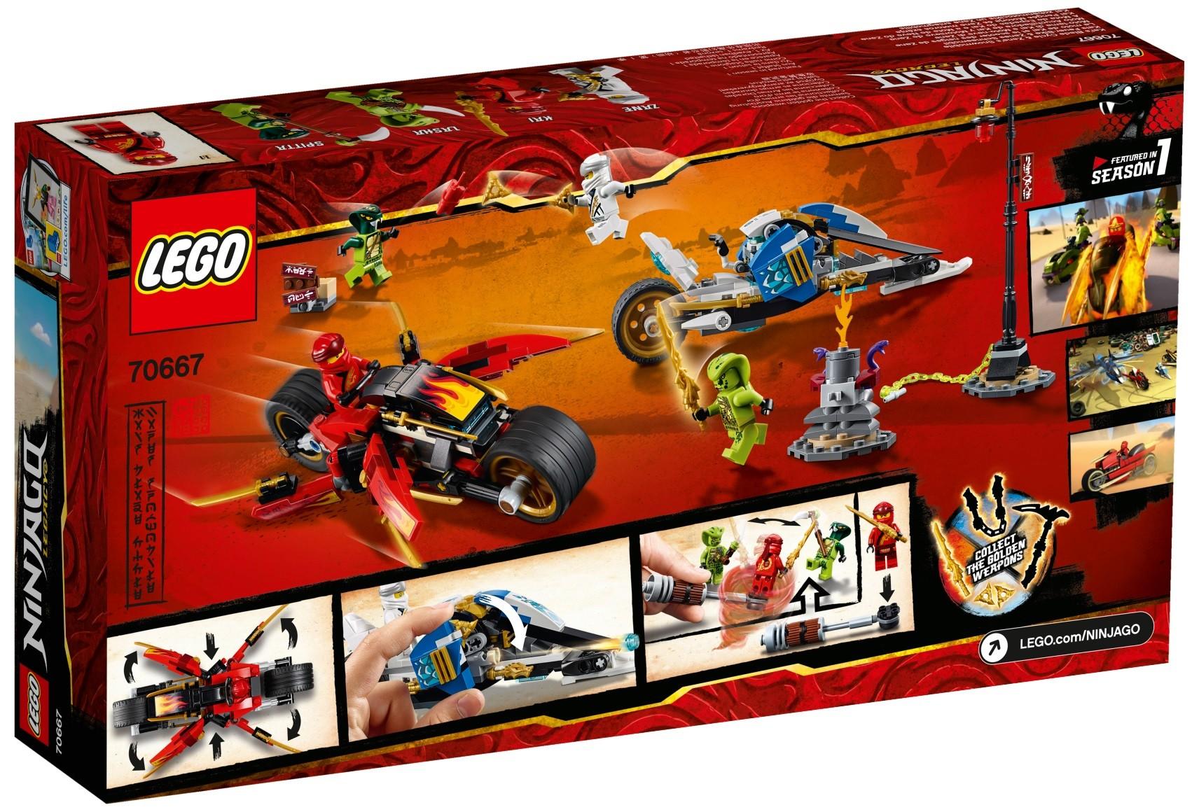 Lego Ninjago 70667 Motocykl Kaia I Skuter Zanea Super Oferty Na